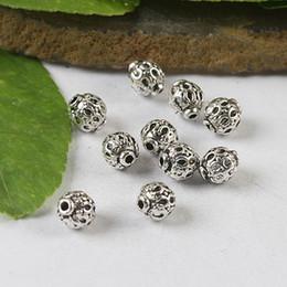 80pcs Tibetan Silver Round Spacer beads H0536