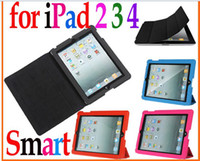 For Apple For Ipad 2/3 Microfiber Discount ! Slim Magnetic Smart Cover Case Stand for Apple New iPad 2 3 4 3rd Gen Tablet PC
