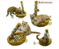 Wholesale Bohemian style soft printing swing the cat column cat toys with catnip Free shippng