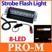 Nueva Llegada de LED de 8 de Vehículos de Emergencia Advertencia de Luz Estroboscópica Flash Amarillo & Blanco envío gratis