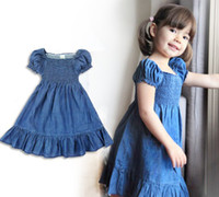 2T-3T Summer Short Sleeve baby summer Skirts Children Skirt baby Dresses girl cowboy Skirts Kids Clothing baby clothes