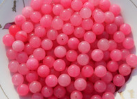 Wholesale Pink jade handmade beads a single bead diameter of approximately mm pack of
