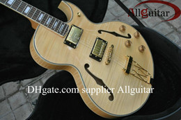 Custom JAZZ 175 natural Tiger Electric Guitar free shipping
