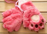 Wholesale new Full finger the Bear claw gloves winter warm men and women plush cartoon gloves