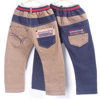 children apparel - Children leisure Apparel Children Pants Pure Cotton Boys Pants trousers patchwork childrens Pants