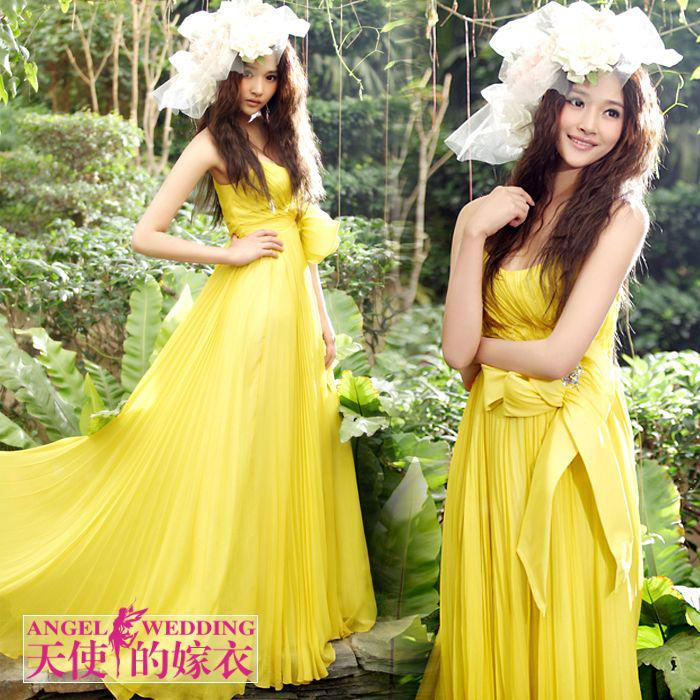 The Bridal Dress: Yellow is the Color That The Bride is Wearing