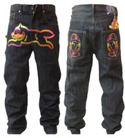 Men Wide Leg Blue Billionaire Boys Club jeans Mens Outwear Ice Cream Tiger black Cool Fashion Hip Hop jeans Hot Gift