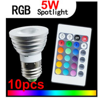 led rgb remote bulb 5w - NEW W E27 LM Multi Color Changing RGB LED Light Bulb with Remote Control