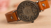 Wholesale Promotion leather watches for colors Cowhide watches fashion women watches Best price
