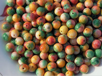 Wholesale Seven color jade handmade beads a diameter of about mm to a pack