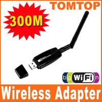300Mbps USB Card Lan adaptador de red inalámbrica WiFi Con 5pcs antena externa c1167
