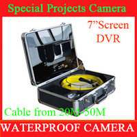 Wholesale Video pipe inspection camera CCTV Drain inspection system Sewer endoscope m fiberglass cable