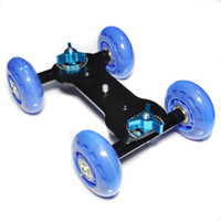 Wholesale Table Top Compact Dolly Kit Skater Wheel Truck for DSLR Camera Video Monitor