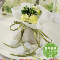Wholesale Love Artificial Flower Wedding candy bag gift bags jewelry bag candy bags goodie bags