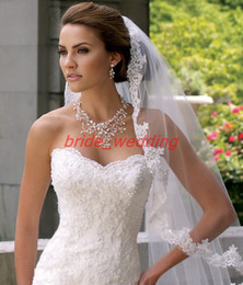 Wholesale Hot Sell Bridal Veil Lace Edge Cathedral Veil White Layer White Veils Long Wedding Veil