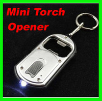 Wholesale Best price Creative Mini in LED Flashlight Torch Keychain With Beer Bottle Opener