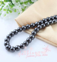 Black magnetic hematite - Black High Power Magnetic Hematite Round Beads MM