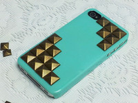 Rhinestone  For Apple iPhone For Christmas studded iPhone 4s Case, iPhone 4 Case-leopard-print Rhinestone iPhone Case