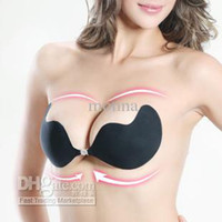 Cheap 20pc sexy silicone V bra Invisible bra nipple paste for Wedding dress Evening dress invisible#63D