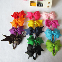 Wholesale Fashion Hair Pins Baby Ribbon Hair Pins Hair Accessories Hair Bows Bobby Haipins