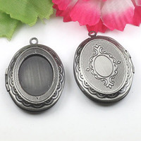 antique victorian locket - Antique Silver Vintage Charms Locket Pendants Dispensing Doming Cameos Victorian Style DIY Jewelry A