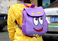Wholesale Dora the Explorer Backpack Mr Face Plush Backpack Shool Bag Purple Toddler Size