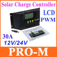 Wholesale Promotion A V V Intelligent LCD PWM Solar Charge Controller Solar Panel Battery Regulator