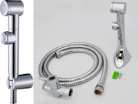 Horizontal bidet kit - Toliet Shattaf Bidet Hygience Shower Douche Kit Spray Diaper Sprayer Hose And Holder T adapter