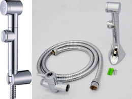 Wholesale Toliet Shattaf Bidet Hygience Shower Douche Kit Spray Diaper Sprayer Hose And Holder T adapter