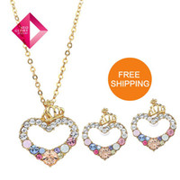 no min order - No Min Order Neoglory MADE WITH SWAROVSKI ELEMENTS Jewelry Sets for Female k Gold Pl