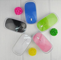 Wholesale 100pcs Ultra Slim USB Wireless Mouse MIni Optical Mouse G with retail packaging