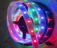 Wholesale 5M FT RGB LED strip IC dream color LED strips Effects remote controller adaptor