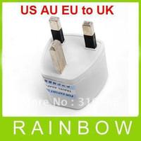 Wholesale 900pcs RA White Universal US AU EU to UK AC Power Plug Travel Adapter England UK Plug