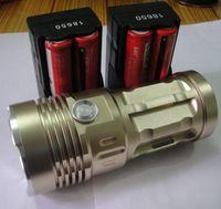 Wholesale 5000 Lumen x CREE XM L XML U2 LED Flashlight Torch Charger W Light