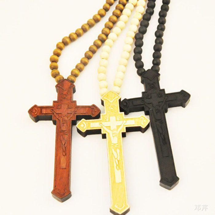 wooden cross jewelry mens 1