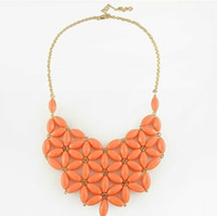 Wholesale Fashion Handmade Resin Bib Statement Necklaces Mixed Colors Minimum Order USD15 can Mix order Free S