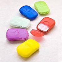 Wholesale Washing Hand Bath Travel Scented Slice Sheets Foaming Box Paper Soap mulit color