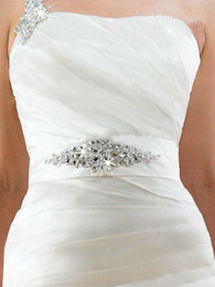 Wholesale Dazzing beaded fashion sash on waist for wedding dresses bridal dress wedding accessories