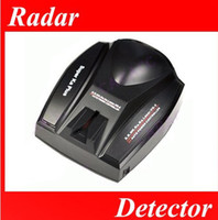 Wholesale 50pcs New Full Band Black Car Radar Detector Voice for GPS Navigator MGXA106