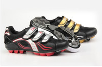 Wholesale Tiebao Bike Shoes New Arrival MTB Cycling Sport Road Shoes Black Gold TB01 B805_0102