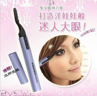 Wholesale New perm electric Foldable Heated Eyelash Curler swab pen shape heated eyelashes extension curler