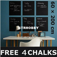 Wholesale 60 cm Blackboard Removable Vinyl Wall Sticker Chalk Board YHF