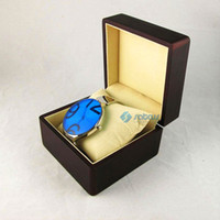 Wholesale Luxury Dark Brown Wooden Display Case Mens Ladies Best Watch Gift Box