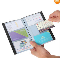 Wholesale 120 Cards Sheets Business Name ID Credit Card Holder Book Case Organizer Black