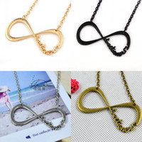 Wholesale 120PCS One Direction Infinity Necklaces Jewelry Alloy D Fans Torque Sweater Chain Justin Bieber Unlimited Pendant Necklace