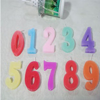 Wholesale New Happy Birthday Party Cake Number Candles picecs set