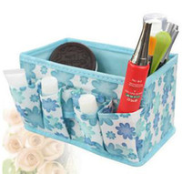 Wholesale New Non woven cosmetic storage box makeup organizer make up storage case basket