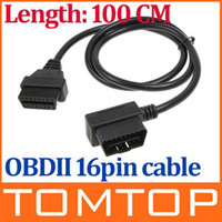 Car Diagnostic Cables and Connectors most other OBD-II OBD2 16Pin Male to Female Extension Cable Diagnostic Extender 100cm free shipping K483