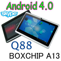 Wholesale 7 inch Capacitive Touch Android Q88 Boxchip A13 Tablet PC With WiFi Webcam Extend G MB GB