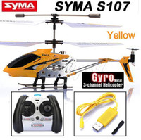 Wholesale SYMA CH S107 S107G INFRARED RC HELICOPTER W GYRO amp USB YELLOW ORIGINAL BOX